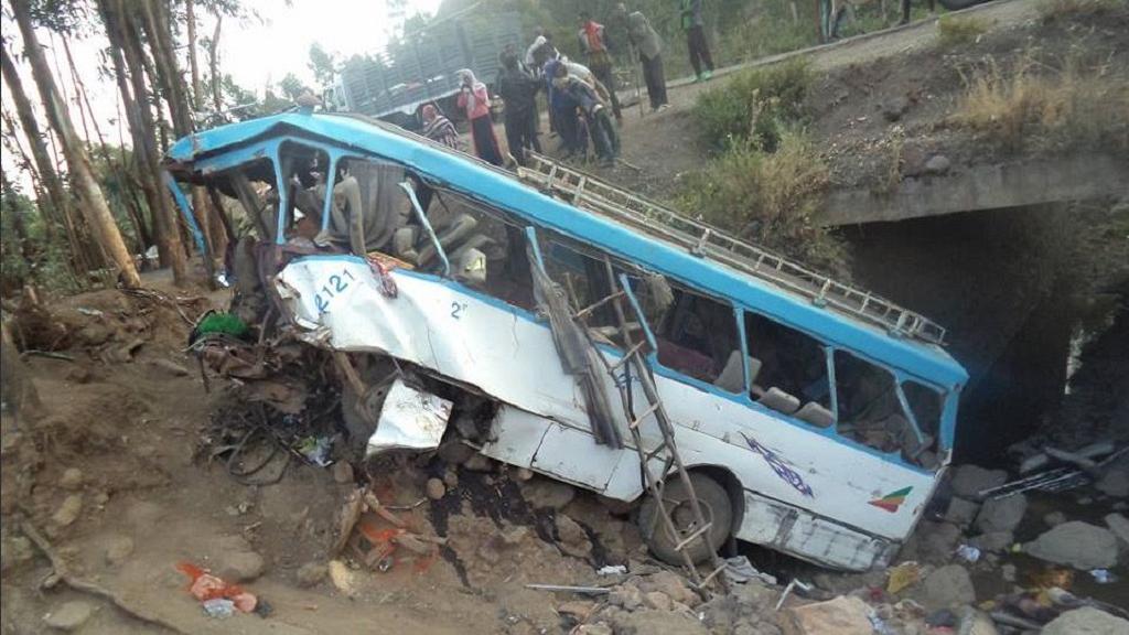इथियोपियामा बस दुर्घटना, ३८ जनाको मृत्यु