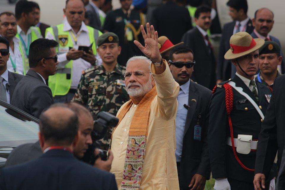 भारतीय प्रधानमन्त्री मोदी काठमाडौंमा, आजै राजनीतिक भेटवार्ता