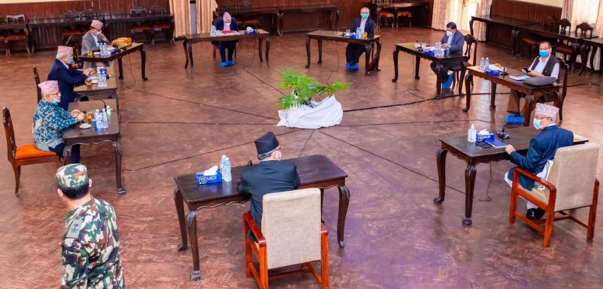 नेकपा सचिवालय बैठक दिउसोका लागि सर्यो