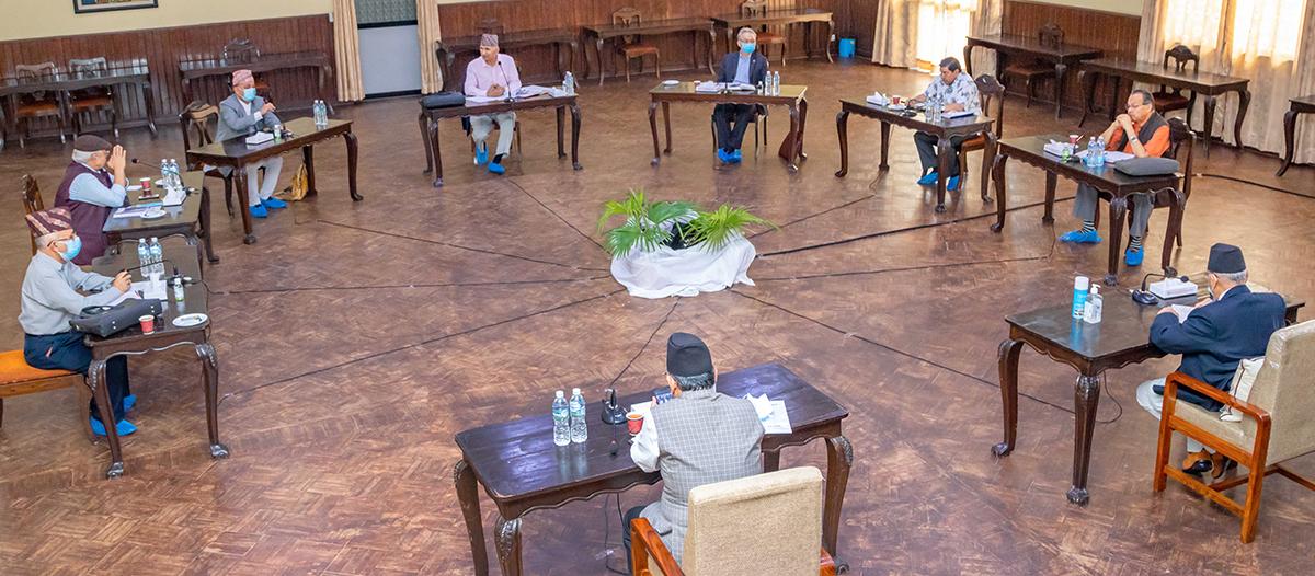 नेकपा सचिवालयको बैठक पेरिसडाँडामा बस्ने