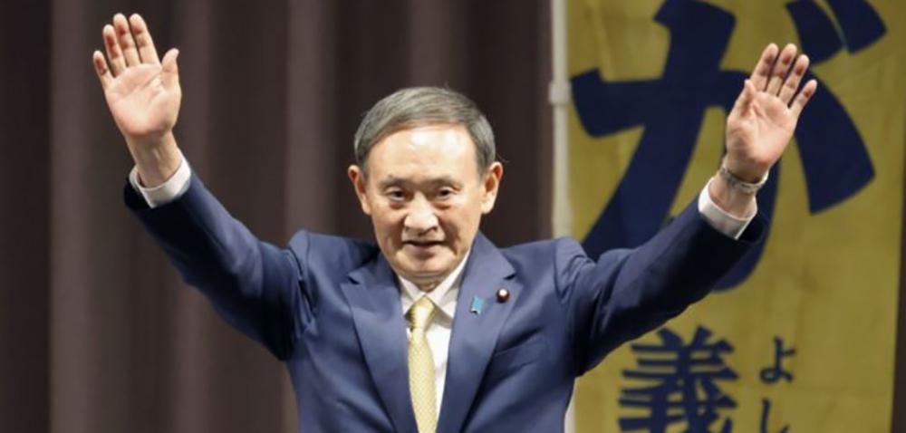जापानको नयाँ प्रधानमन्त्रीमा योशिहिदे सुगा निर्वाचित