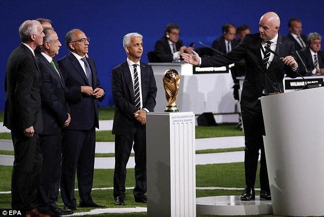 २०२६ को विश्वकफ फुटबल अमेरिका, मेक्सिको र क्यानाडामा हुने