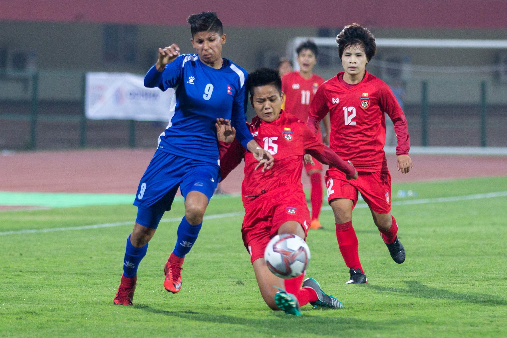 नेपाल म्यानमारसँग ३ –० ले पराजित