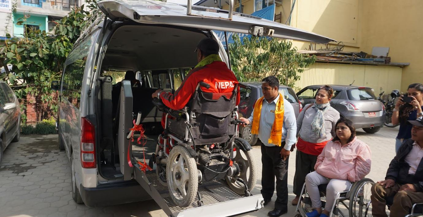 नेपालमा पहिलो अपांगतामैत्री भ्यानको उद्घाटन