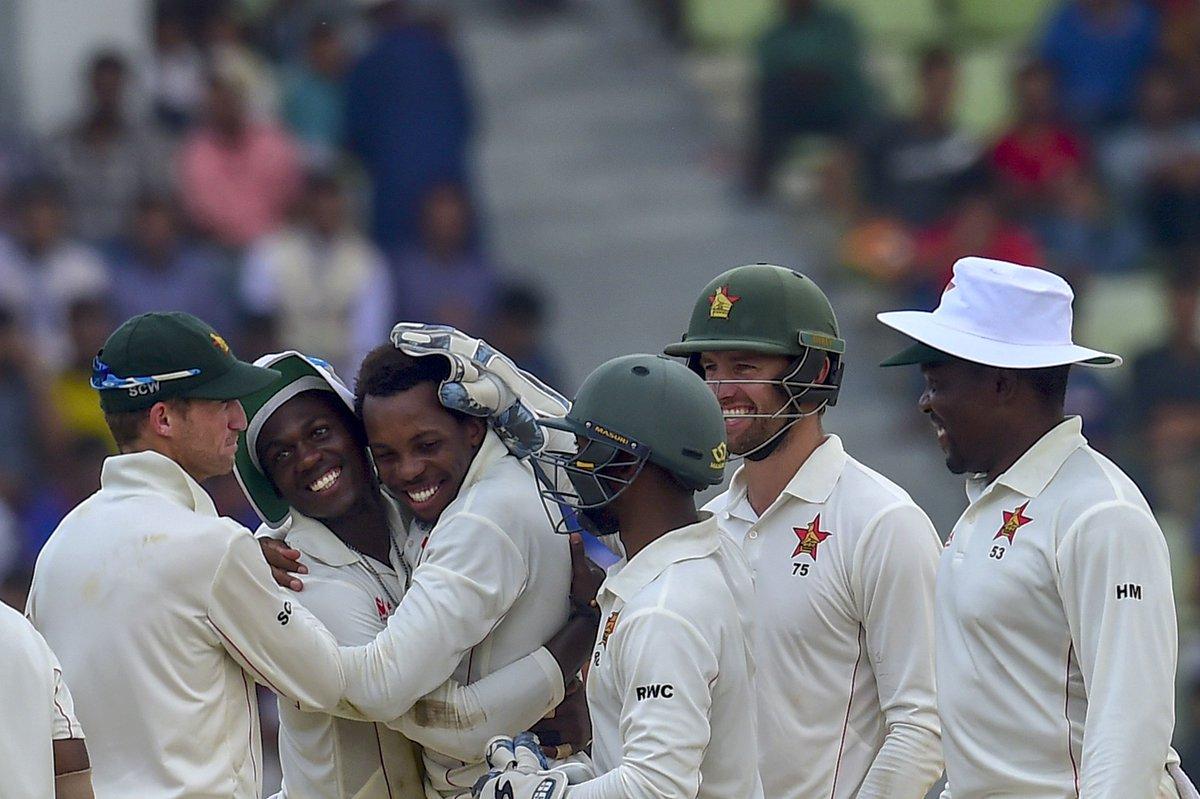 टेस्ट शृंखलामा जिम्बाब्वेको १–० को अग्रता