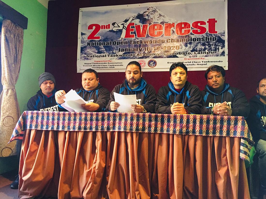 दोस्रो एभरेस्ट राष्ट्रिय खुला तेक्वान्दोमा १२ सय खेलाडी सहभागी हुने