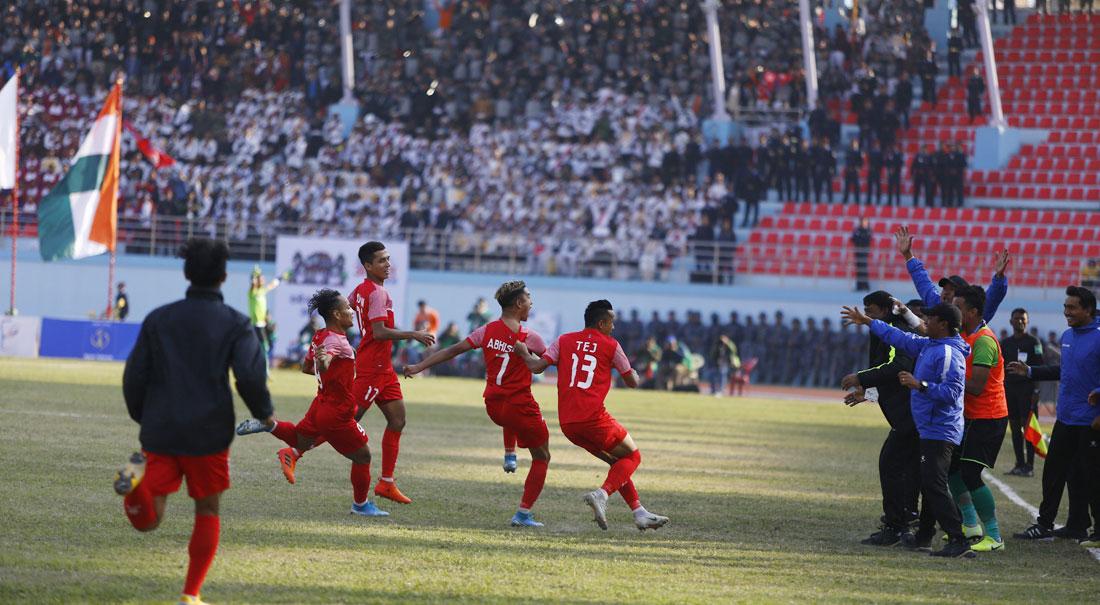 नेपाल लगातार दोस्रोपटक च्याम्पियन, भुटान २-१ ले पराजित