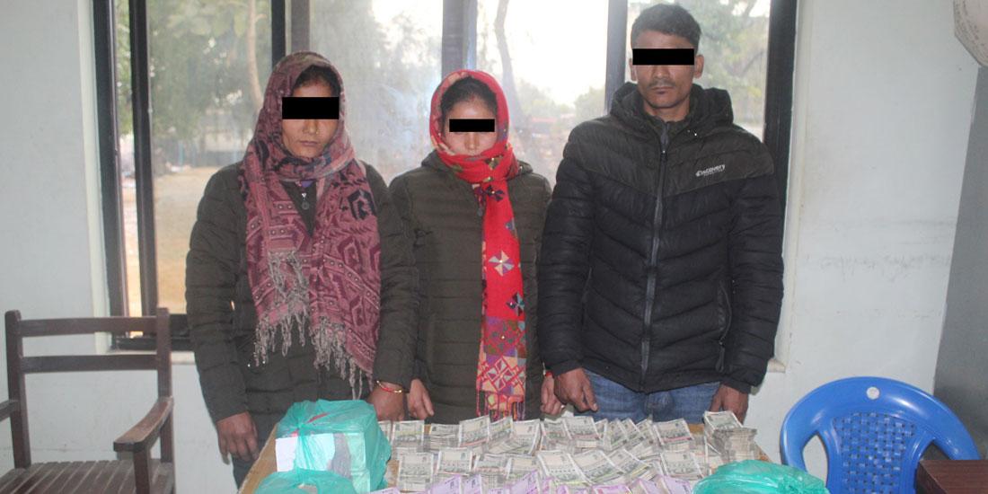 दिल्लीबाट चोरी गरेको १ करोडसहित कैलालीबाट तीन पक्राउ