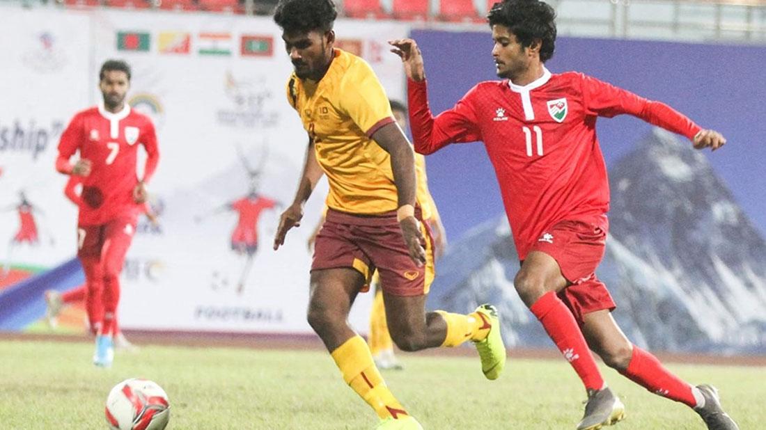 पुरुष फुटबल : माल्दिभ्स र श्रीलंकाको बराबरी