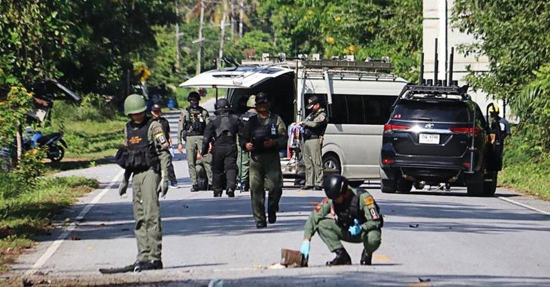 थाइल्यान्डमा भएको आक्रमणमा परी प्रहरीसहित १५ जनाको मृत्यु