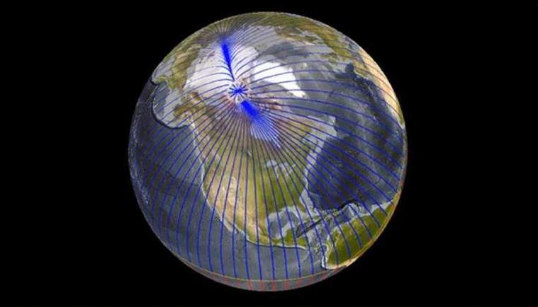 पृथ्वीको उत्तरी ध्रुव असामान्य गतिले रुसतर्फ अघि बढ्दैछ !