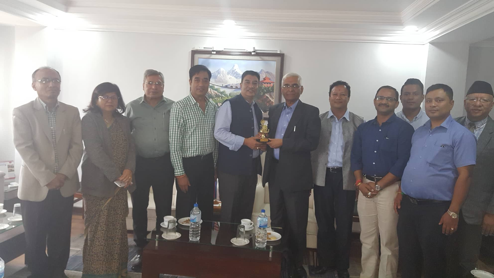 चेम्बर अध्यक्षद्वारा साउदीका लागि नेपाली राजदूतसँग छलफल