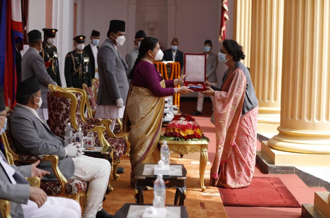 तस्बिर : राष्ट्रपतिको कार्यालय ।